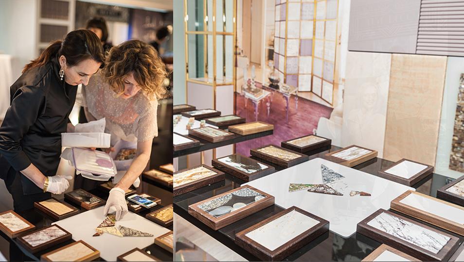 Anna Nava e Roberta Magagnotto all'opera, ricreano il nostro logo in sfoglia di cioccolata.  Sweetmarble, creatività senza limiti.